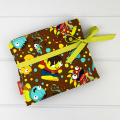 Crayon Wrap - Monsters fabric