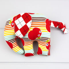Elephant Softie, small - Apple Stripes fabric