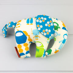 Elephant Softie, small - Robot fabric