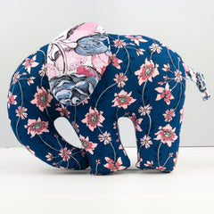Elephant Softie, large - Sweet Stems Blue fabric