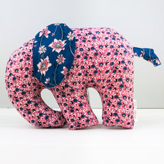 Elephant Softie, large - Sweet Stems Pink fabric