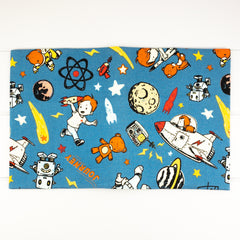 Fabric Covered Journal - Blue Space Explorer fabric