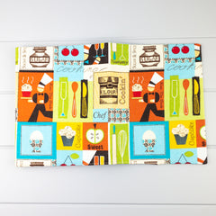Fabric Covered Journal - Cooking fabric