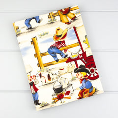 Fabric Covered Journal - Cowboys fabric