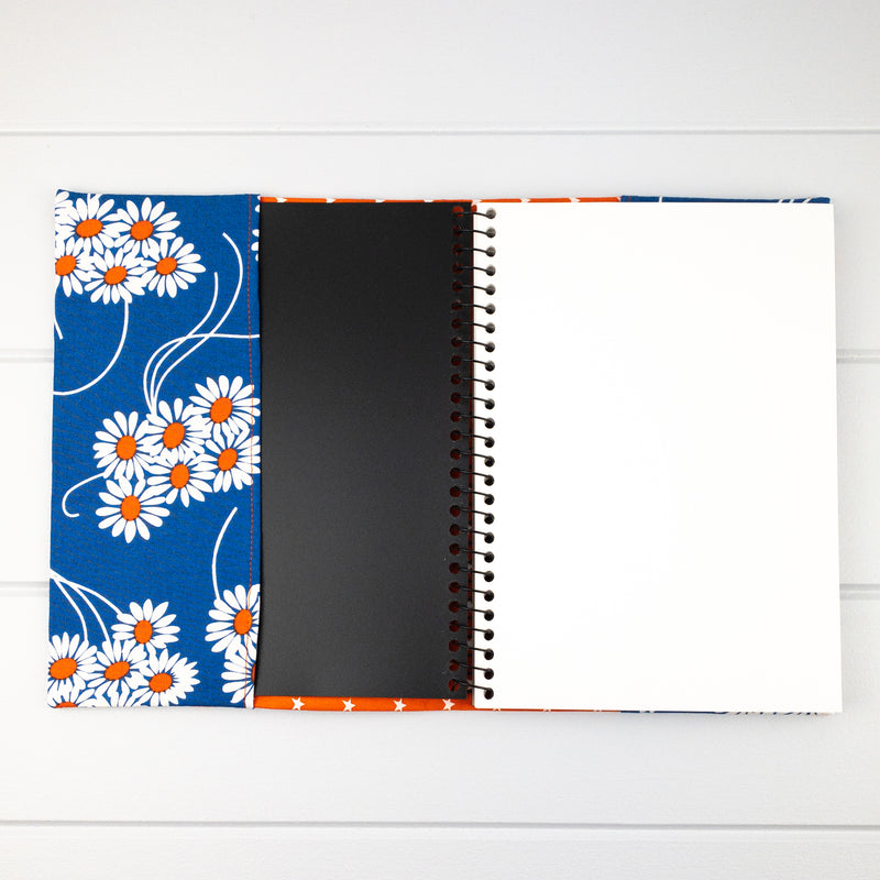 Fabric Covered Journal - Flower Posy fabric