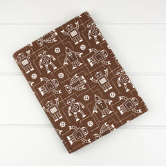 Fabric Covered Journal - Robot fabric