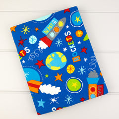 Zip Pouch - Rockets fabric