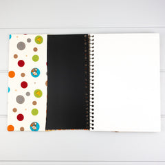 Fabric Covered Journal - Woodland Spots fabric