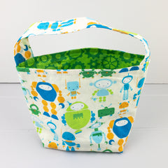 Kids Bag - Robot fabric