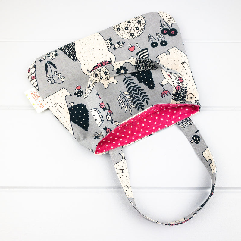 Little Girl Bag - Bears in the Wild fabric