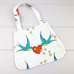 Little Girl Bag - Forever Birds fabric