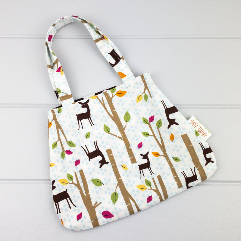 Little Girl Bag - Forest Deer fabric
