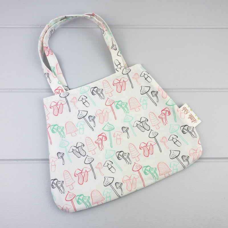Little Girl Bag - Mushroom fabric