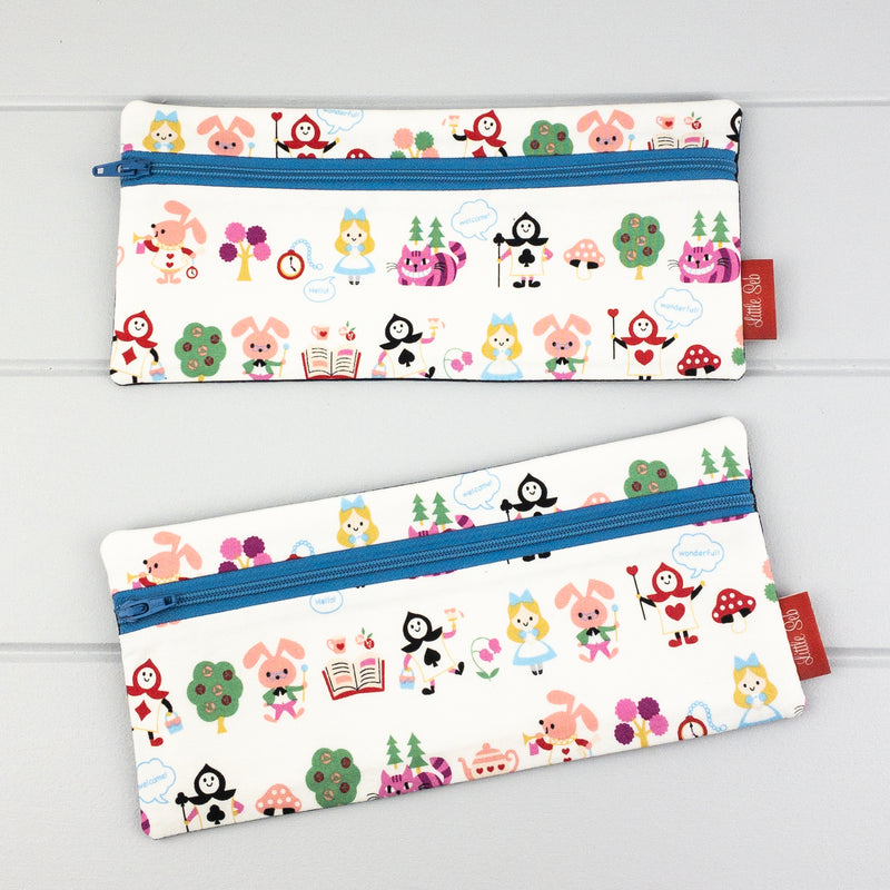 Pencil Case - Alice fabric