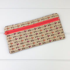 Pencil Case - Arrows fabric