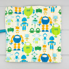 Pencil Roll - Robot fabric