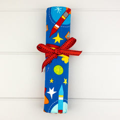 Pencil Roll - Rockets fabric