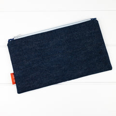 Zip Pouch - Grey fabric