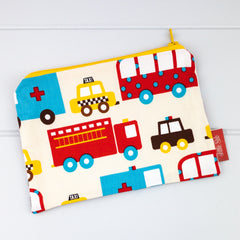Zip Pouch - Emergency Vehicles fabric