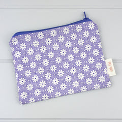 Zip Pouch - Flower fabric
