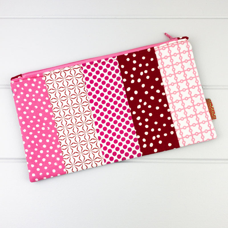 Zip Pouch - Pink fabric