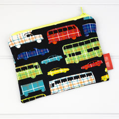 Zip Pouch - Vehicles fabric