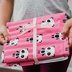 Pencil Wrap - Pink Panda fabric