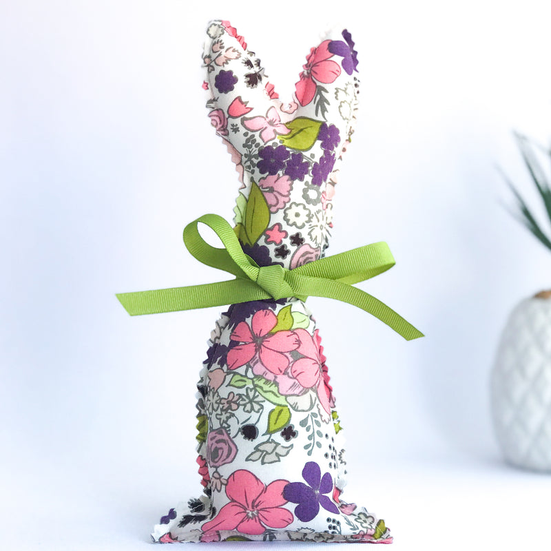 Easter Bunny Softie - Purple Flower fabric