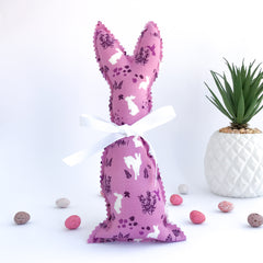 Easter Bunny Softie - Purple with Bunnies fabric