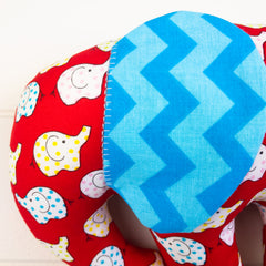 Elephant Softie, large - Colourful Elephants fabric