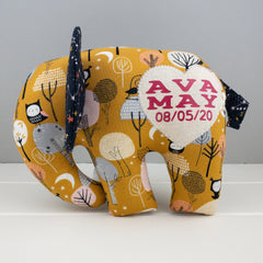 Elephant Softie, large - Under The Stars fabric