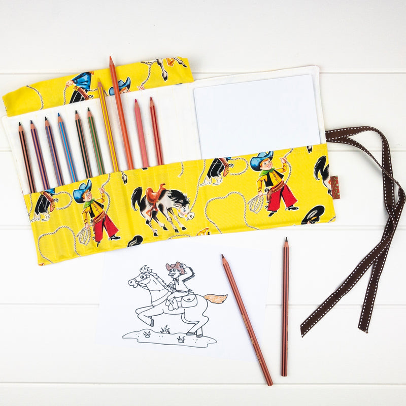 Pencil Wrap - Cowboys fabric