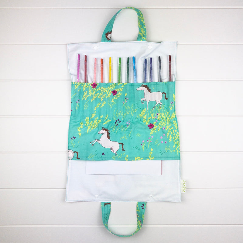 Drawing Folio - Horses in Fields fabric