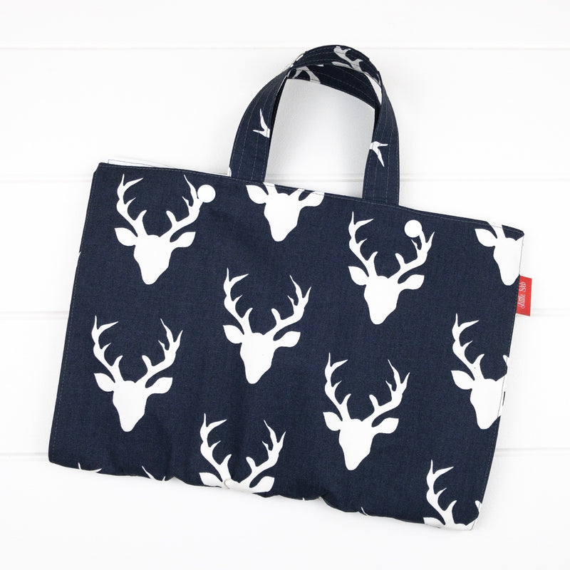 Drawing Folio - Navy Buck fabric