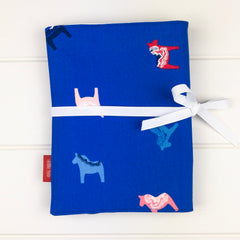 Pencil Wrap - Blue Horse fabric