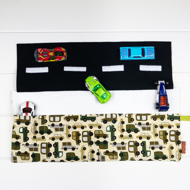 Car Playmat - Army Trucks fabric
