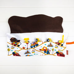 Construction Playmat - White Truck Characters fabric