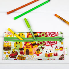 Pencil Case - Sugar Town fabric