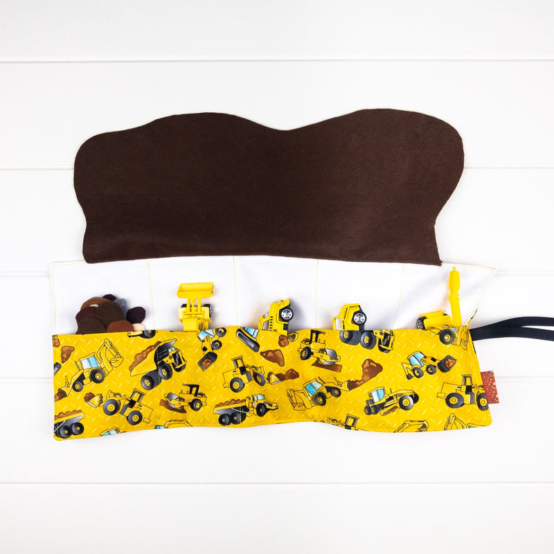 Construction Playmat - Yellow Construction Site fabric