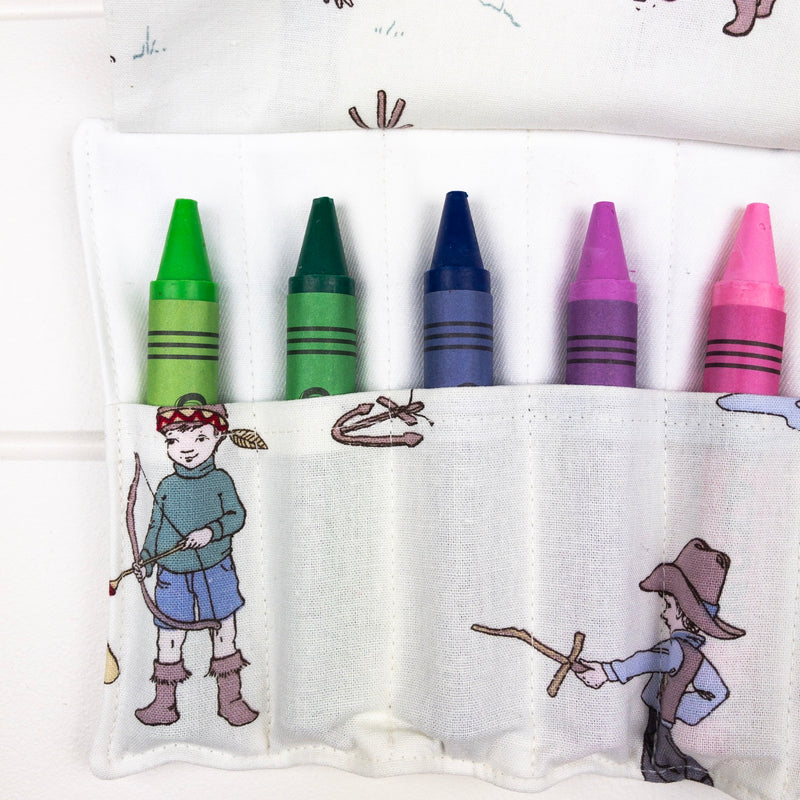 Crayon Wrap - Boys at Play fabric