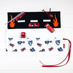 Fire Engine Playmat - Off-white Construction and Fire Truck fabric