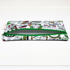 Pencil Case - Bears on Vacation fabric