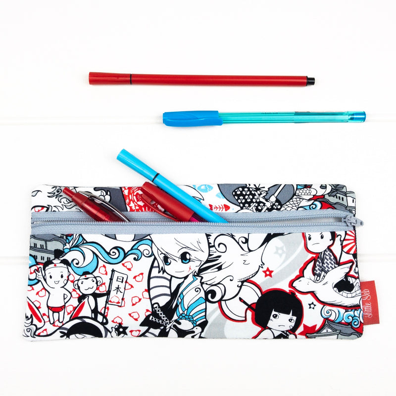 Pencil Case - Ninja Warrior fabric