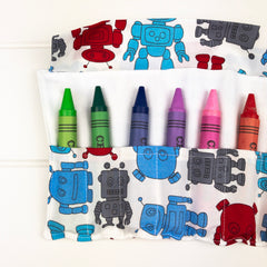 Crayon Wrap - Robot fabric