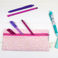 Pencil Case - Pink Hopscotch fabric