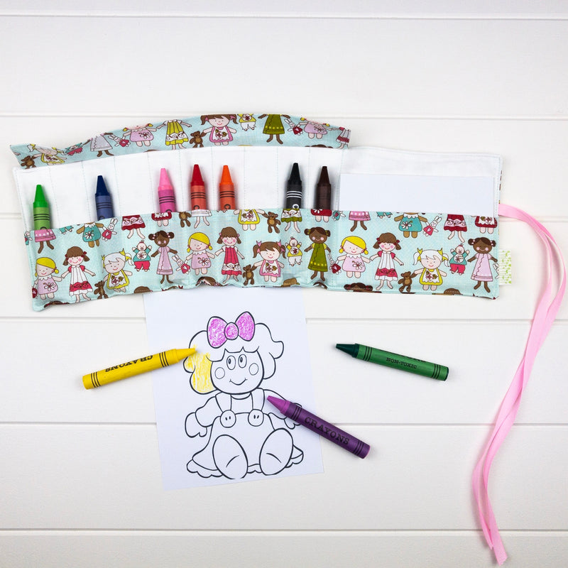 Crayon Wrap - Doll fabric