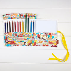 Pencil Wrap - Traveling Bears fabric