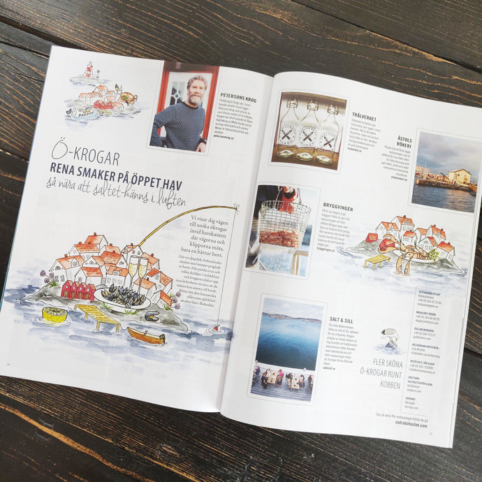 Mina illustrationer i turistmagasinet Upplev