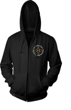 Load image into Gallery viewer, MEN'S GLOBAL BADGE ZIP HOODIE