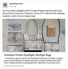 Jackalope Art Fair - Starlight bags